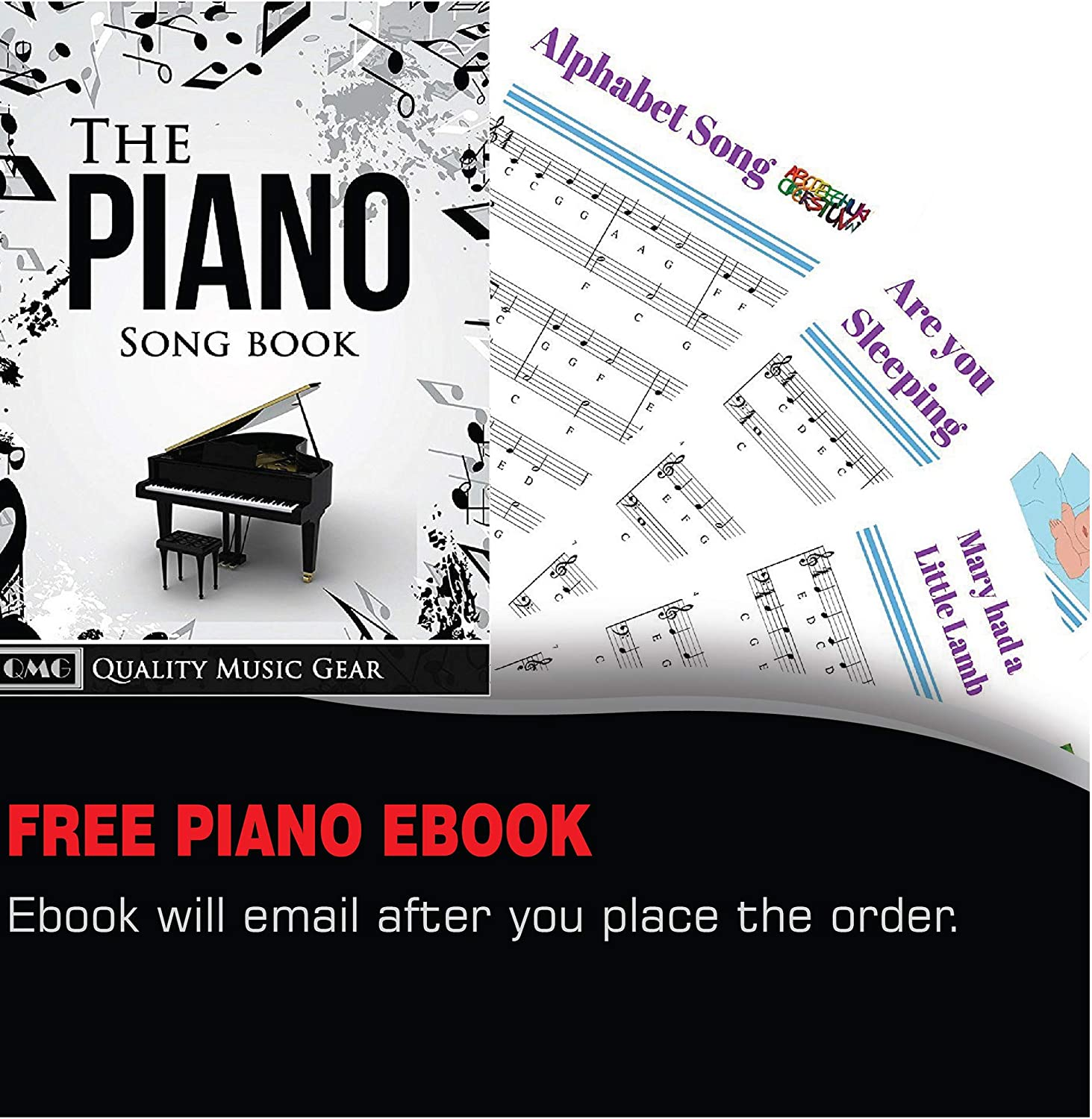 Free Piano Ebook Piano Stickers for All White Keys 49//61//76//88 Key Keyboards - Transparent and Removable